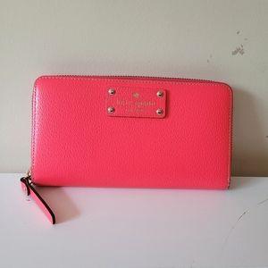 Kate Spade Hot Pink Continental Wallet